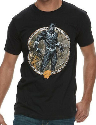 Black Panther Movie Medallion Licensed T-Shirt Adult Sizes S-2XL