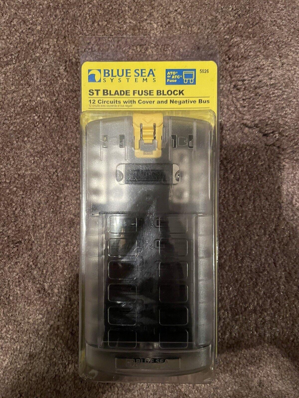 6 Circuit AMRB-5028 Blue Sea ST Blade Fuse Block w//Cover