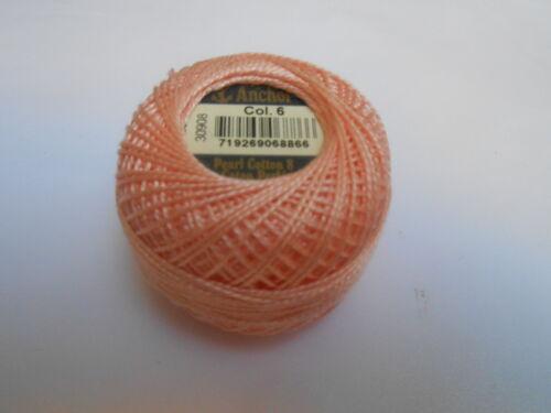 Anchor Perle 8 Cotton 10g Peach  colour Number 6
