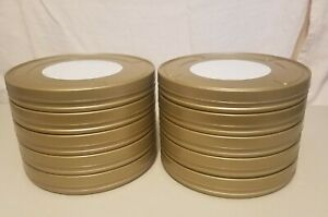 Eastman Kodak Metal Movie Film Reel Canisters. (10) 7 inch diameter × 1 inch.