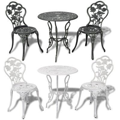 Jeu de bistro balcon 3 pcs Aluminium coulé VertBlanc Salon de jardin terrasse   eBay