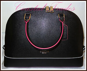 04f12305dd03 tNWT NEW Coach Leather Large Multi Edge Paint Sierra Satchel Hand ...