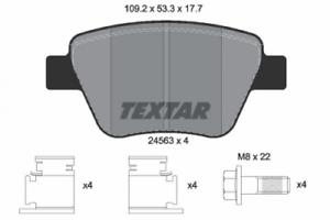 2456301 Textar Bremsbelagsatz HA Bremse Bosch Nr