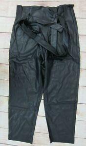 Revolve-Women-039-s-Amanda-Uprichard-Tessi-Faux-Leather-Pants-Large-Black-NWT