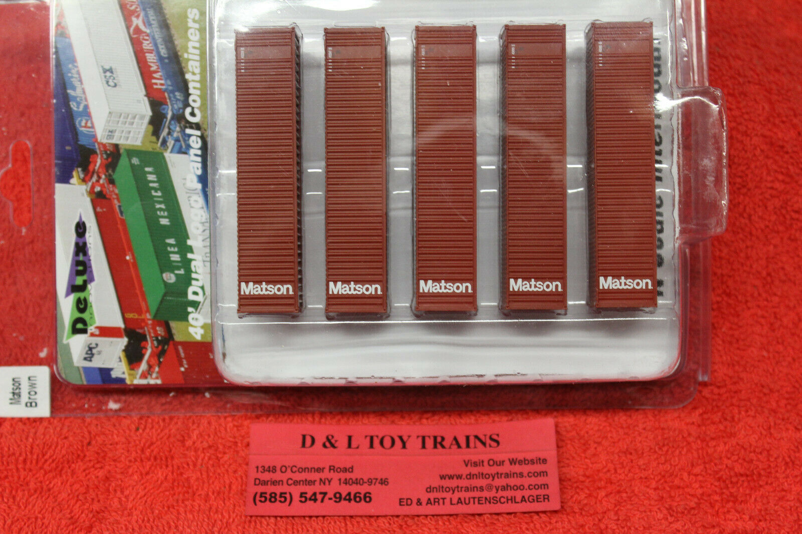 505081 Matson 40' Rib Side Container Set Brand New
