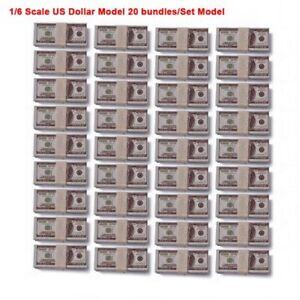 1-6-Szene-Zubehoer-Dollar-Modell-20-Bundle-Set-Fit-12-034-Action-Figur-Spielzeug
