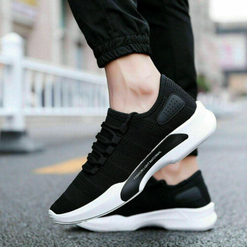 Mens Trainers Casual Fitness Lace Up Running Sneakers Shoes Sports Shoes Size UK