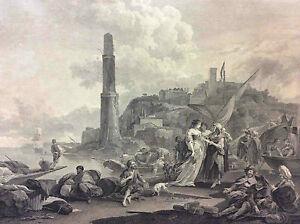 D-039-apres-BERGHEM-N-grave-LAURENT-P-La-Bohemienne-consultee-Paris-ca-1785-Boheme