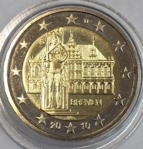 Pièce 2 euros 2010 Allemagne G sous capsule