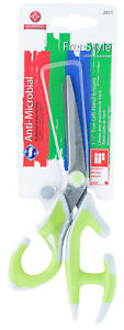 Mundial-FreeStyle-True-Left-Hand-Scissors-5-1-2-in-Ergonomic-Handles-Green