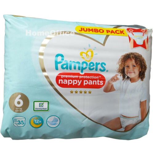 35 x Pampers Disposable Nappy PANTS Size 6  (15Kg Plus)