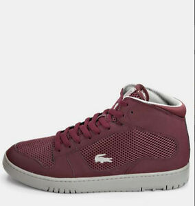 dcf142940 Mens New Lacoste Shoes Trainers Defuse Mid Fashion Gym Sizes 9 9.5 ...
