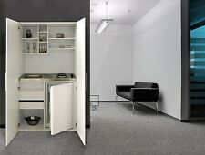 Büroküche  respekta Single Office Pantry Kitchen Wardrobe Mini Cupboard White ...