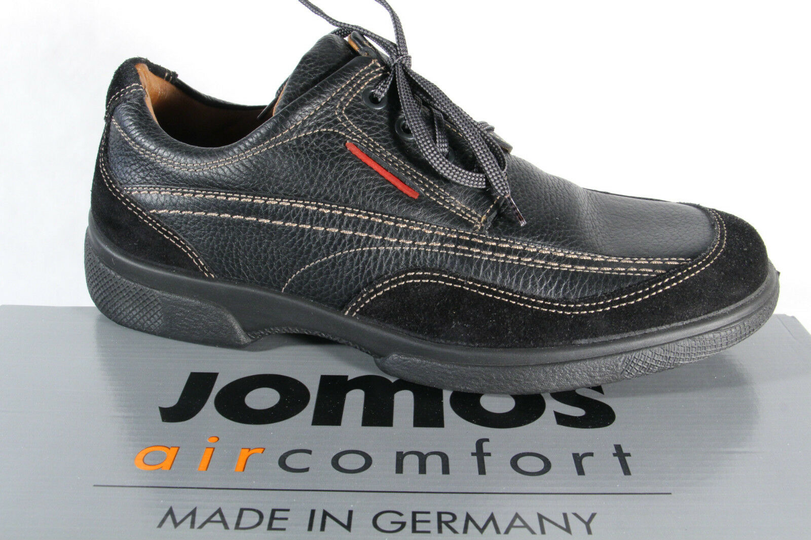 Jomos Zapato bajo Zapatillas Negro Transpirable Plantillas Intercambiables 23344