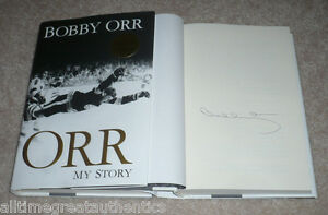 BOSTON-BRUINS-LEGEND-BOBBY-ORR-HAND-SIGNED-034-MY-STORY-039-AUTOBIOGRAPHY-BOOK-w-COA