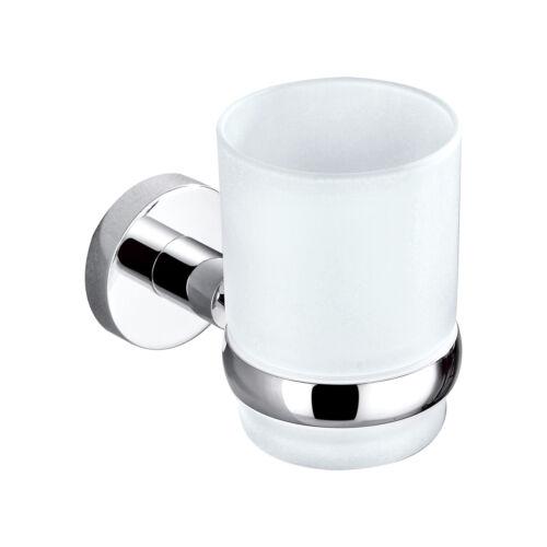 NEU OVP Zahnputzbecher  Becherhalter Design Glashalter Zahnputzglas