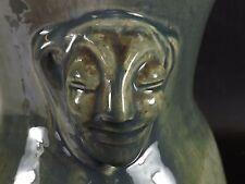 Art Déco, Joli Vase en Grès émaillé, Céladon Vert. Signature à Identifier