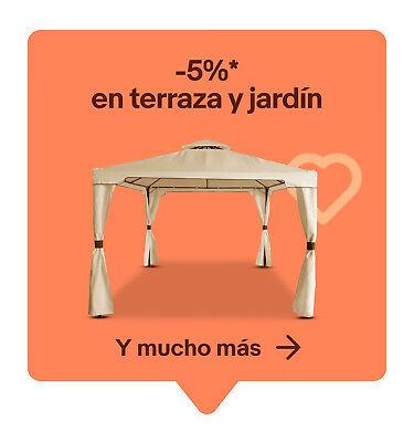 -5%* en terraza y jardín y mucho más