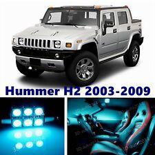 14pcs LED ICE Blue Light Interior Package Kit for Hummer H2 2003-2009