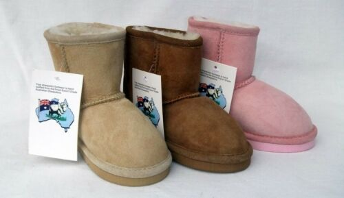 Child Sheepskin Classic Boot Australian Wool Kids Short Lambswool Unisex Shoe