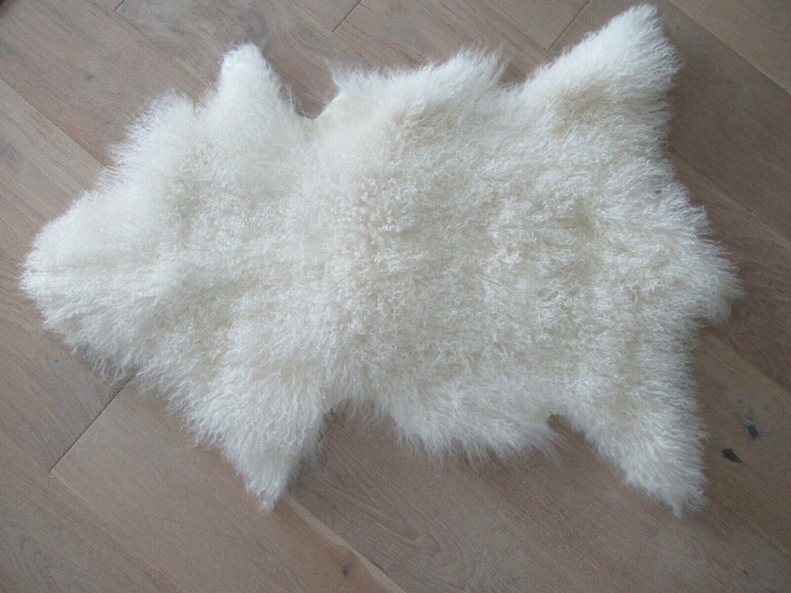 Curly Mongolian White Fur Bear Faux Fur Teddy Briette the Mongolian Artist Bear Nursery Gift Curly Lamb Fur Artist Bear Ready to Ship