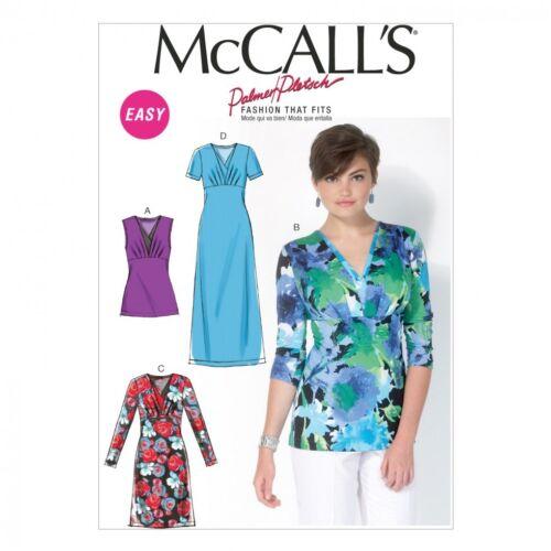 Mccalls Damas patrón de costura 7092 Punto Elástico Top /& vestidos mccalls - 7...