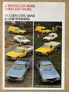 1984-Holden-Utes-Vans-amp-One-Tonners-original-Australian-sales-brochure