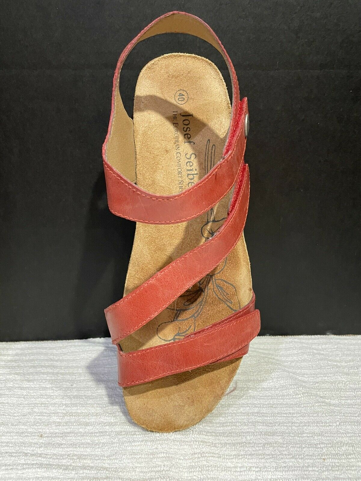 Josef Seibel Tonga  Womens Strappy Sandals In Red - image 8
