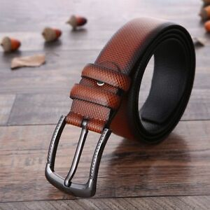Leather-Gift-Fashion-Business-Style-Men-Belt-Men-039-s-Belt-Belt-Men-039-s-Accessories