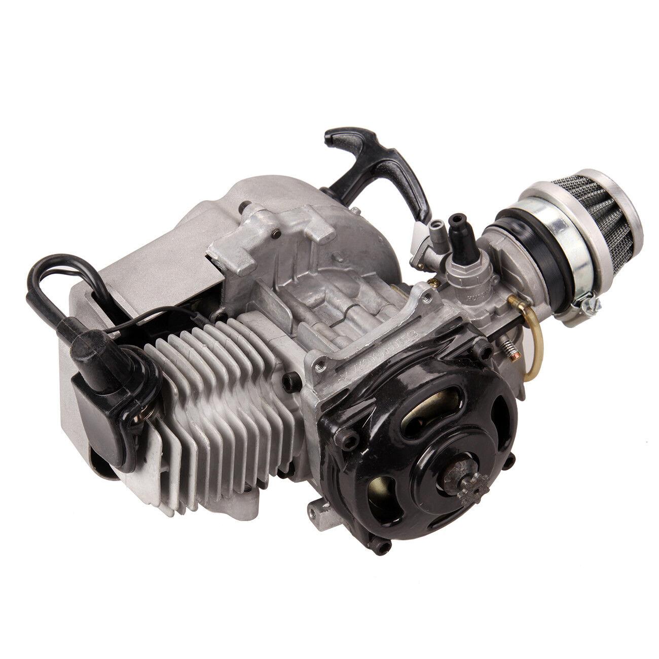 Motor 49CC Dirt Fahrrad Cross PocketFahrrad Kinderquad Mini Getriebe Vergaser NEU
