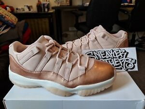 d17f7cf7ab3c Nike W Air Jordan Retro XI 11 Low Metallic Rose Gold Red Bronze ...