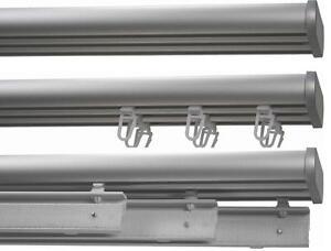 aluminiumschiene 3 lfg alu wei vorhangschiene fl chenvorhangschiene schiene ebay. Black Bedroom Furniture Sets. Home Design Ideas