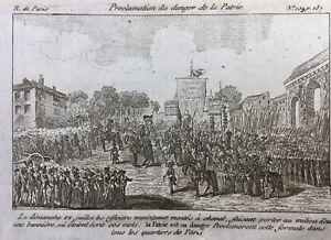 La-Patrie-en-danger-Juillet-1792-Paris-Rare-Gravure-de-la-Revolution-Francaise