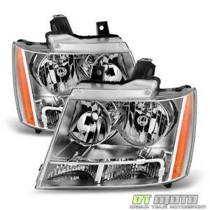Image Is Loading 2007 2017 Chevy Avalanche Suburban Tahoe Headlights Lamps