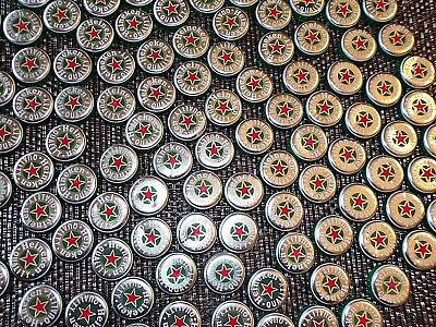 Silver HEINEKEN  Beer Bottle Caps 50 Recent Design