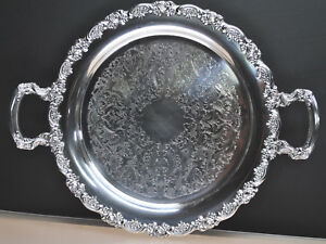 BEAUTIFUL-ANTIQUE-ONIEDA-SILVER-PLATE-TRAY-PLATTER-CIRCA-LATE1800-039-S-15-034-ROUND