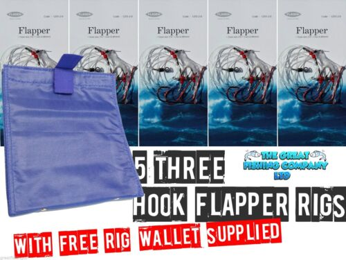 3 Hook Flapper Rigs And Free Sea Fishing Rig Wallet