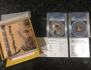2017-Mongolia-Fidel-Castro-999-Gold-amp-Silver-2-Coin-Proof-Set-PCGS-PR70-Asian