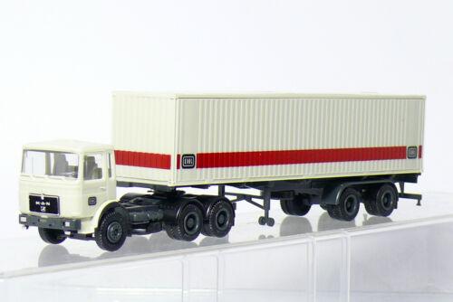 Herpa Sondermodell MAN Container Sattelzug DB Deutsche Bundesbahn  1:87  Top