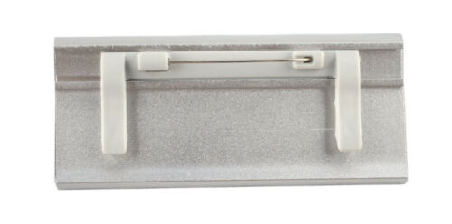 50 x  Namensschild eloxiertes Aluminium Metall 65x22 mm oder 70x32 mm Magnet