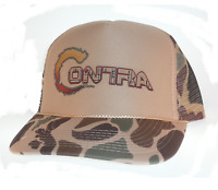 Contra Video Game Hat Trucker Hat Mesh Hat Camo Tan Konami