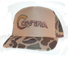 Contra video game hat Trucker Hat Mesh Hat camo tan Konami