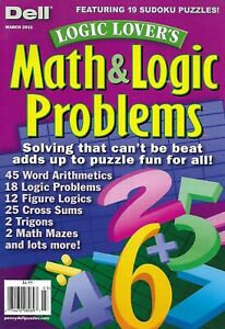 Dell-Magazine-Math-And-Logic-Problems-Word-Arithmetic-Logic-Cross-Sums-Trigons
