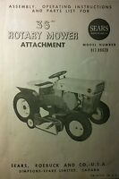 Sears Custom 6 Garden Tractor 36 Mower Deck Owner & Parts Manual 10pg 917.99620