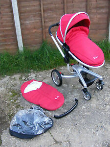 Chilli Red Silver Cross Surf Pushchair Buggy Stroller Pram with Accessories - <span itemprop='availableAtOrFrom'>Hitchin, Hertfordshire, United Kingdom</span> - Chilli Red Silver Cross Surf Pushchair Buggy Stroller Pram with Accessories - Hitchin, Hertfordshire, United Kingdom