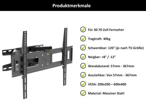 TV Fernseher Wandhalterung A55 Halter für SONY 32 Zoll KDL-32WD757 Neigbar