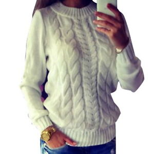 cd7260feb0a Details about Women Lady Long Sleeve Loose Sweater Knitted Cardigan Coat  Jacket Outwear Casual