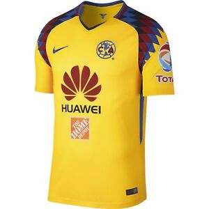 f3550334d030 Nike Club America DF 2017 - 2018 Third Soccer Jersey New Yellow ...