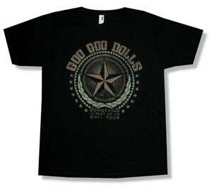 Goo-Goo-Dolls-Star-Rest-of-US-2011-Tour-Black-T-Shirt-New-Official-Band-Merch