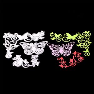Stanzschablone-Schmetterling-Liane-Rebe-Weihnachten-Neujahr-Oster-Karte-Album